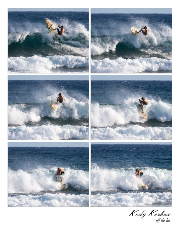 Kody Kerbox, Ho'okipa, Off the Lip