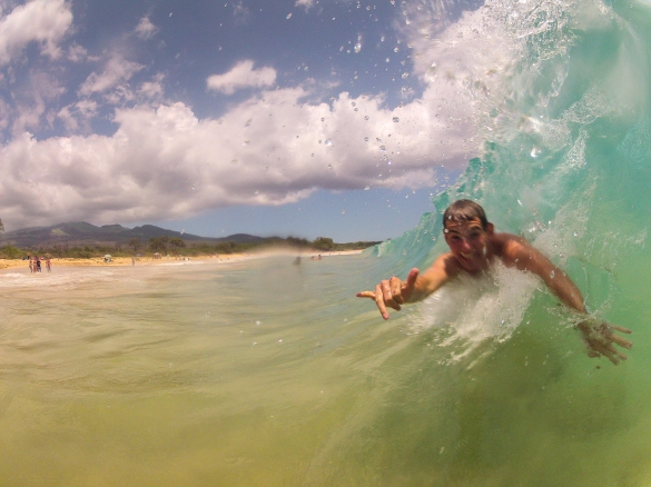 Body Surfing at Makena State Park