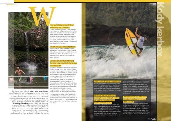 Recent Spotlight article in The Paddler